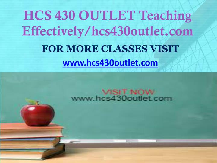 Hcs 430 outlet teaching effectively hcs430outlet com