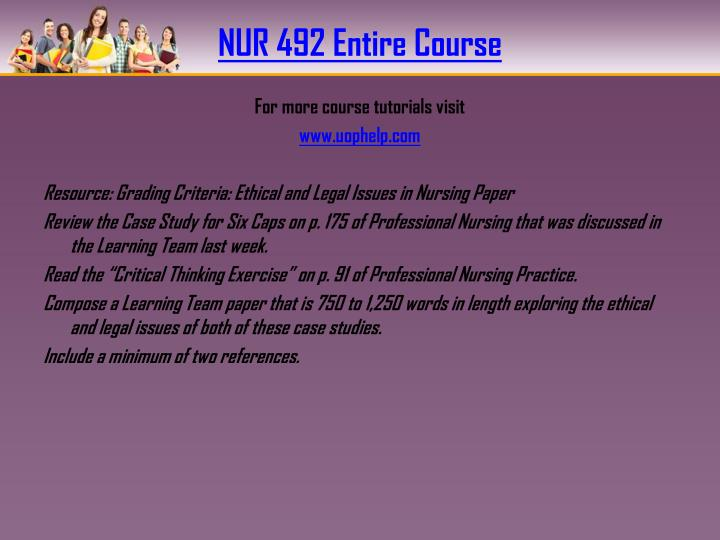 nur 492 powerpoint presentation week 5 The assignment e help learning team gives you the best competitive edge in examinations we also provide quick help like nur 492 week 5 human resource policy presentation our tuto.