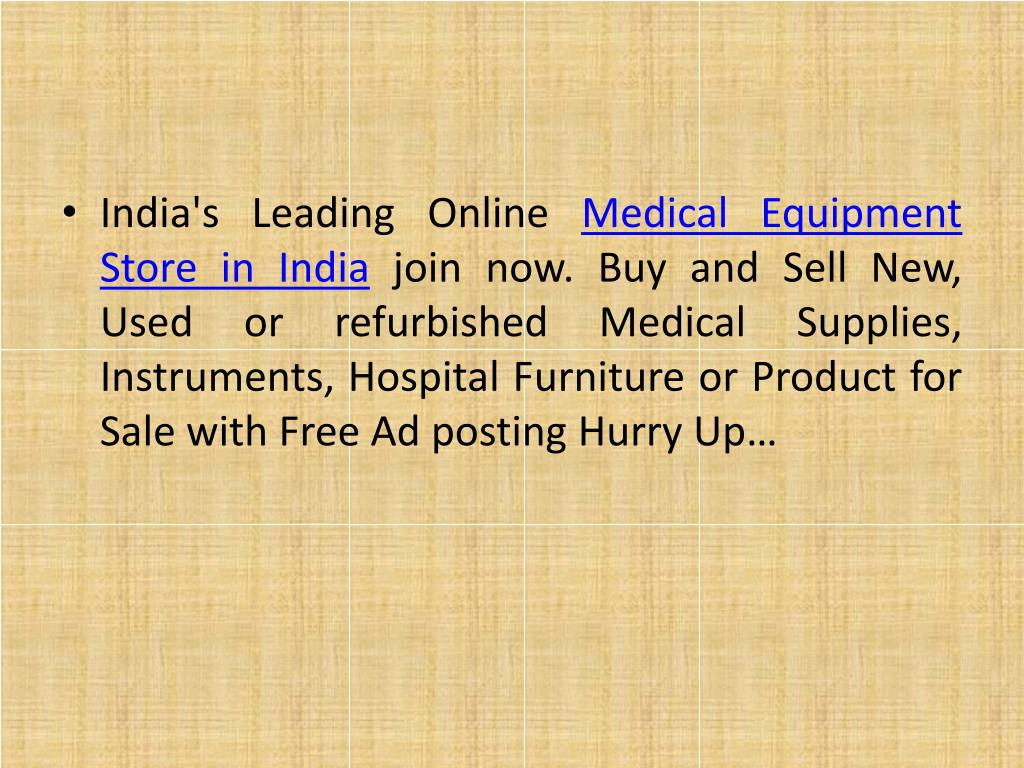 PPT - medical equipment online store india | used medical equipment
