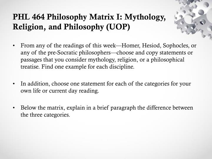 philosophy matrix i mythology religion and In a culture that is often thought to have lost interest in religion, the matrix shows random religious mythology to arguments in philosophy.