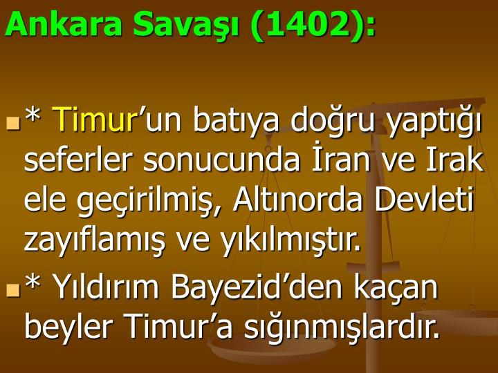 Ankara Savaşı (1402):