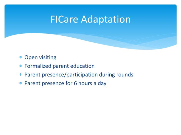 FICare Adaptation