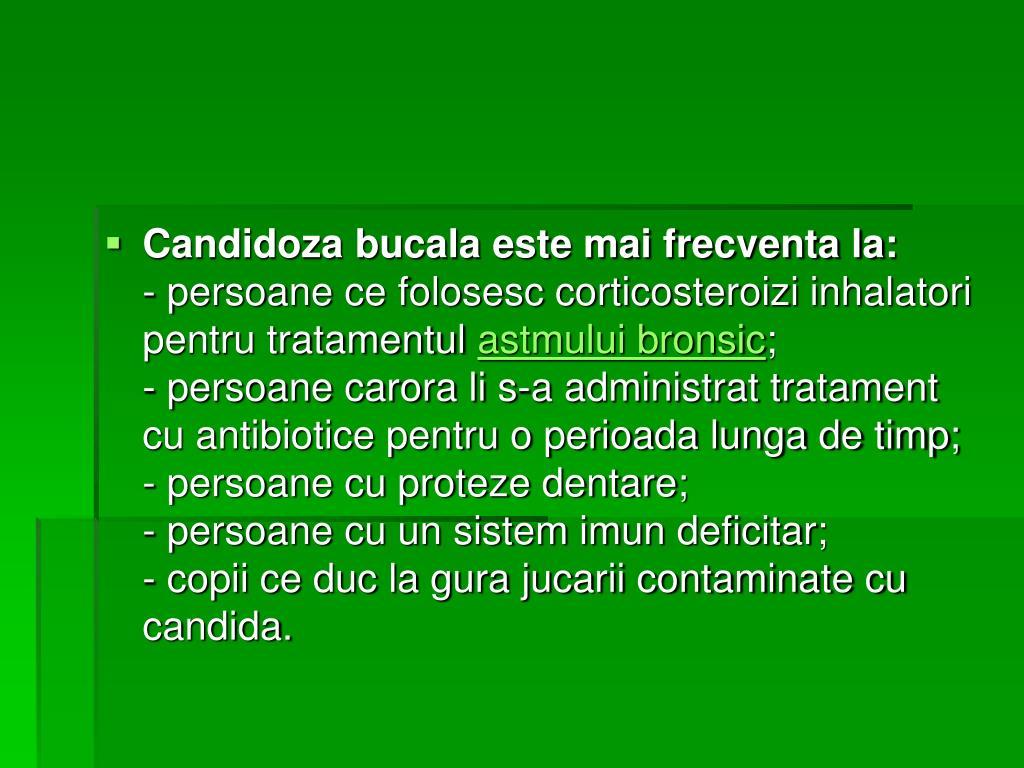 Candidose buccale: Infection fongique - adultes et bébé