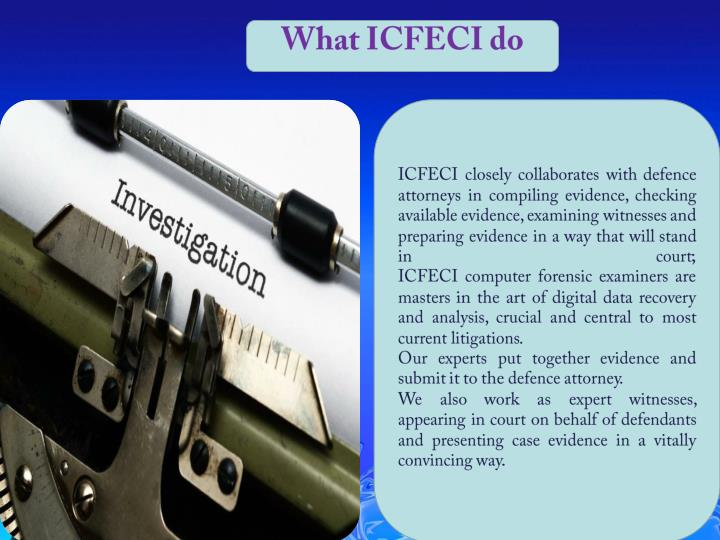What ICFECI do