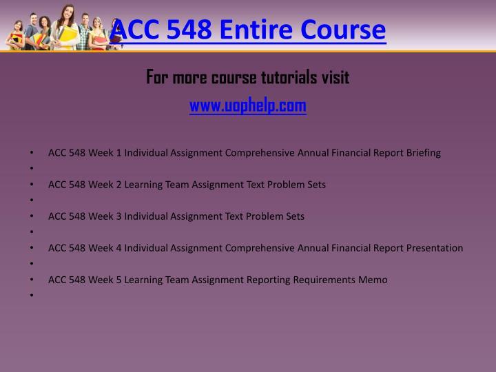 Acc 548 entire course