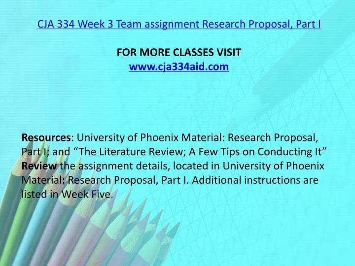 cja 334 research proposal part 1