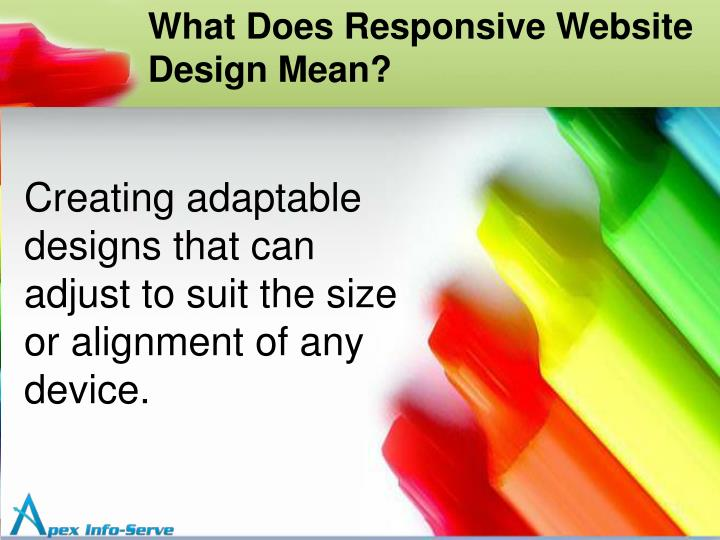 What Does Responsive Website Design Mean?