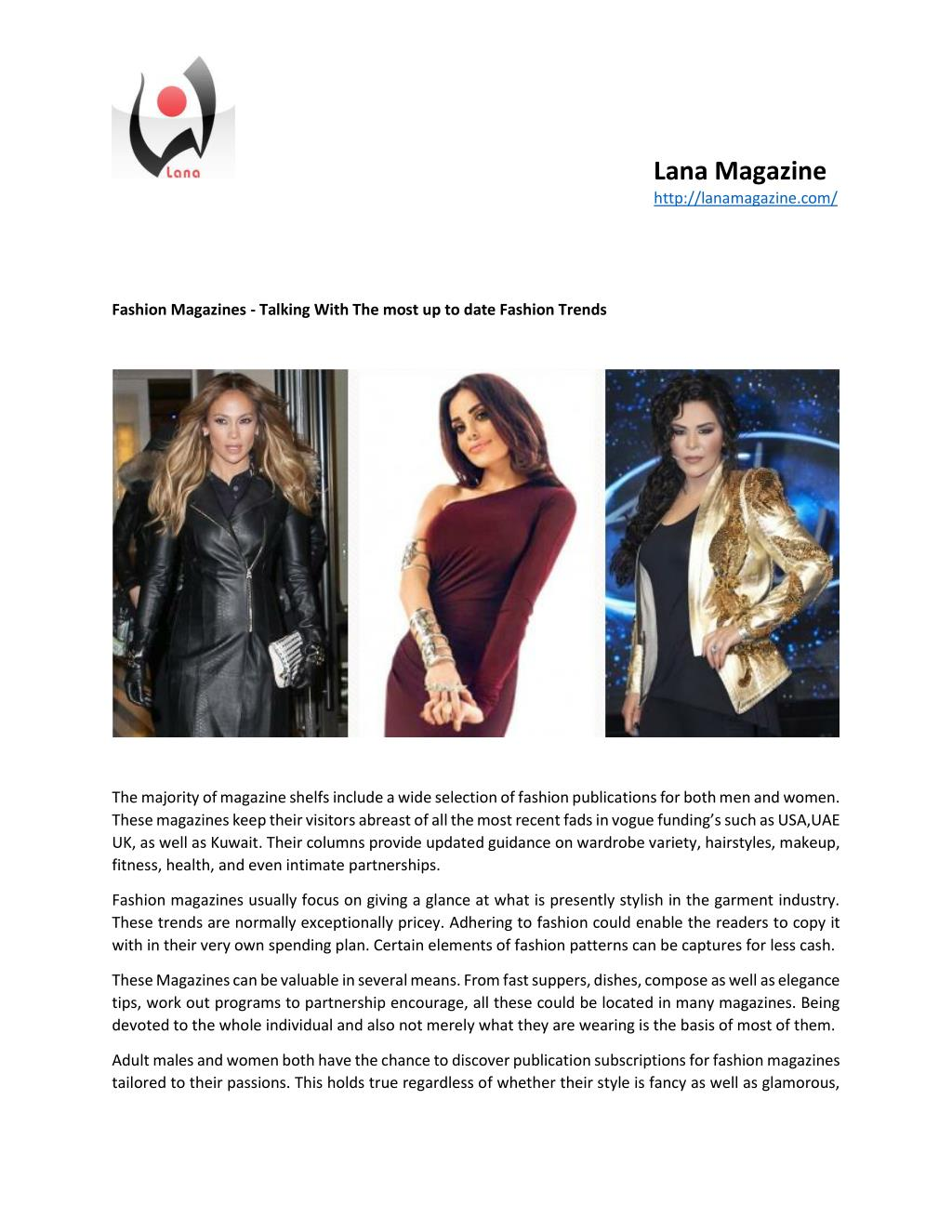 Ppt Fashion Magazines Talking With The Most Up To Date Fashion Trends Powerpoint Presentation Id 7331311