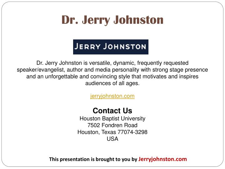 Dr. Jerry Johnston