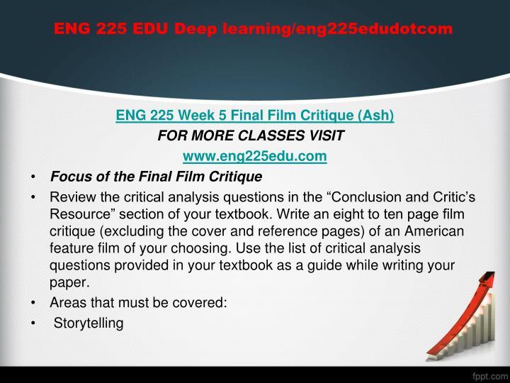 ENG 225 EDU Deep learning/eng225edudotcom