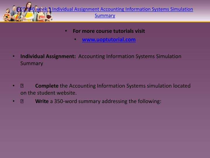 acc 340 accounting info simulation Contact asheville-buncombe technical community college 340 victoria road asheville, north carolina 28801 usa 828-398-7900 emergency number: 828-398-7125.