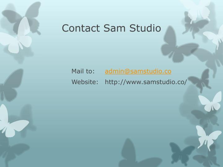 Contact Sam Studio