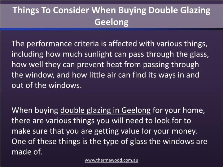 Things To Consider When Buying Double Glazing Geelong