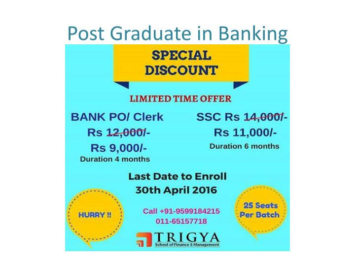 PPT - Banking & Finance Courses - 1 Yr Post Graduate ...