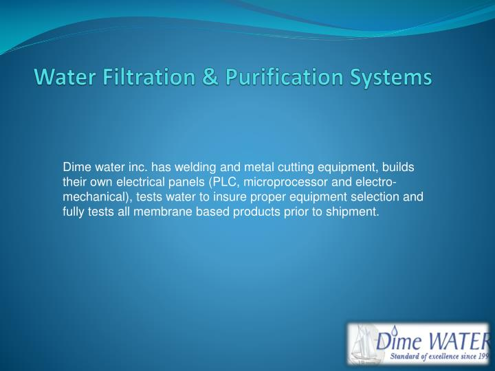 water filtration purification systems n.