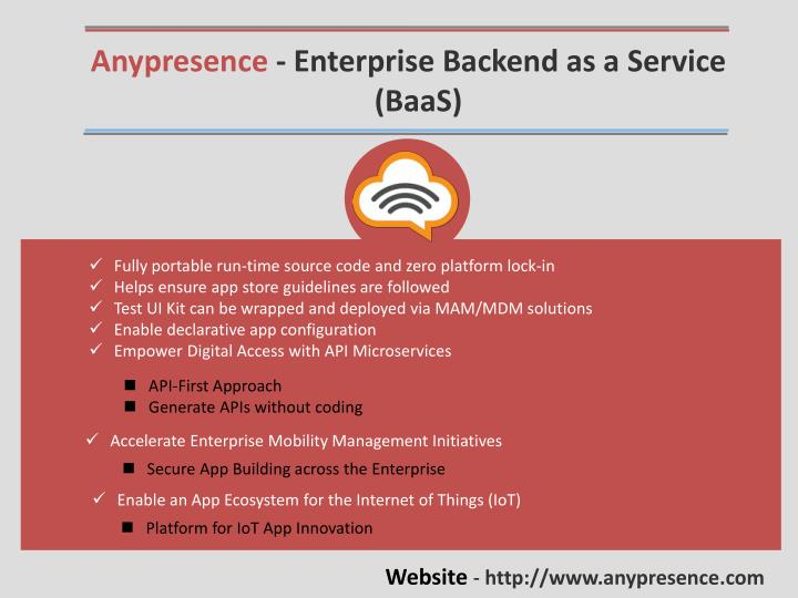 Anypresence - Enterprise Backend as a Service
