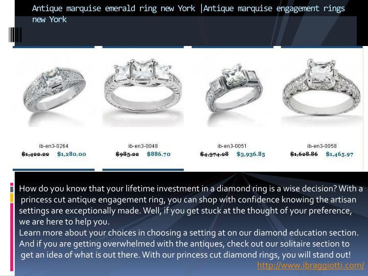 Antique marquise emerald ring new york antique marquise engagement rings new york