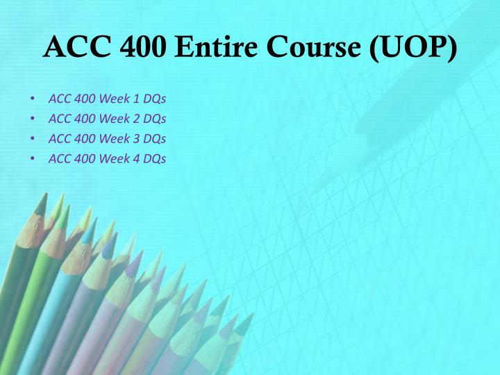 acc 400 week 2