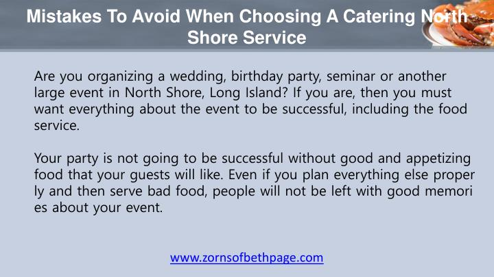 Mistakes to avoid when choosing a catering north shore service