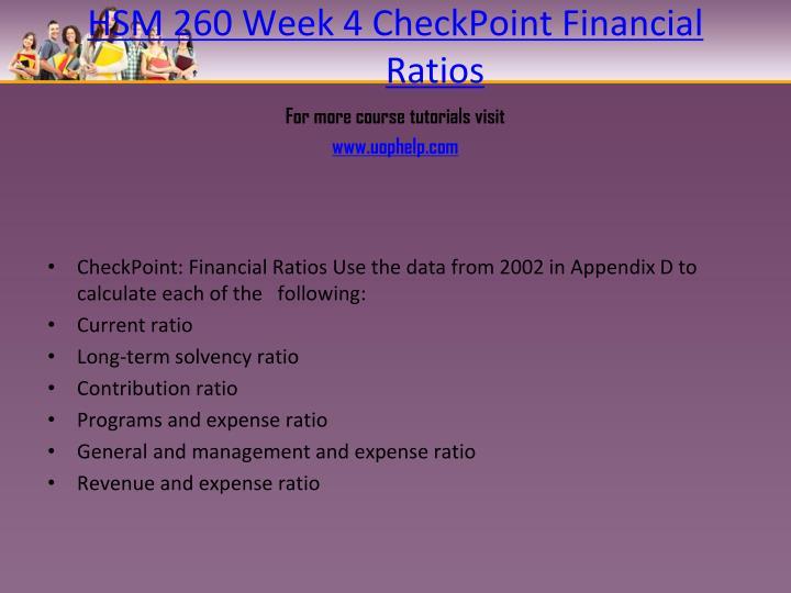 HSM 260 Week 4