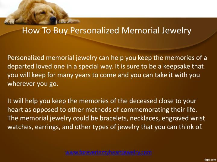 How To Buy Personalized Memorial Jewelry
