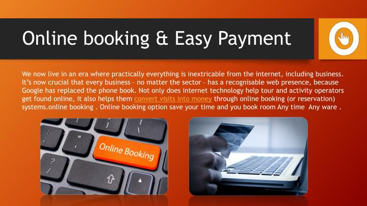 Online booking easy payment