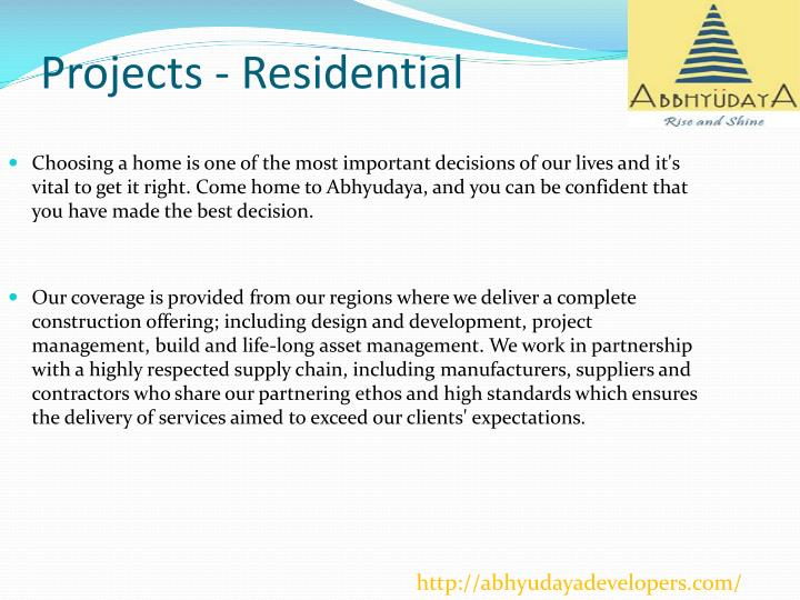Projects residential