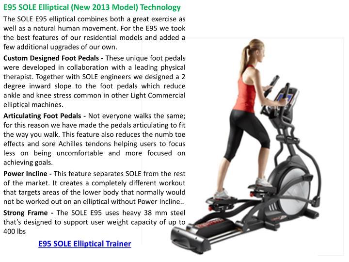 E95 SOLE Elliptical Trainer
