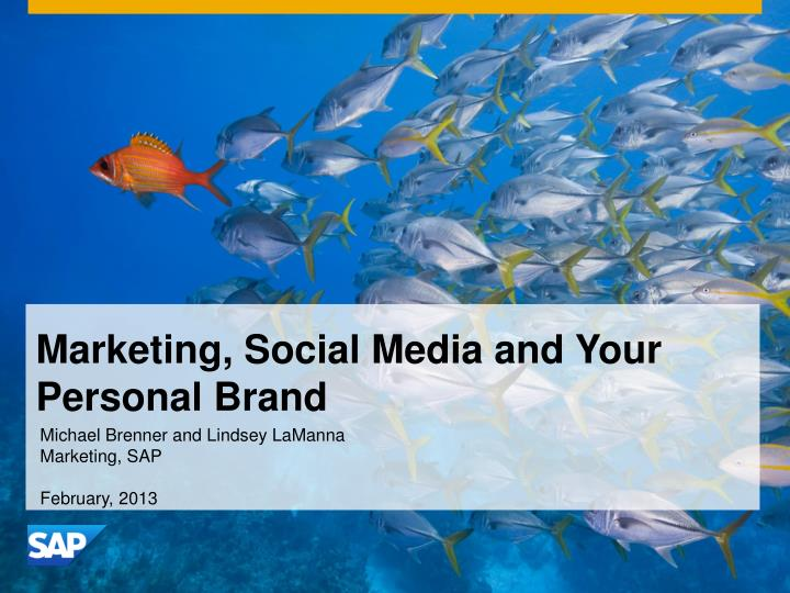 marketing social media and your personal brand n.