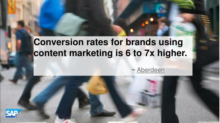 Conversion rates for brands using