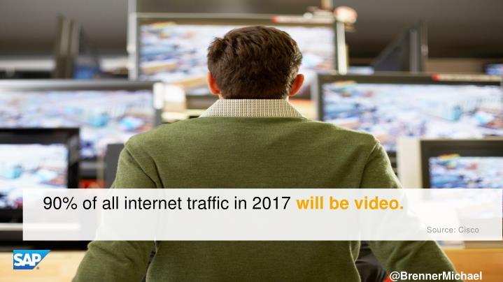 90% of all internet traffic in 2017