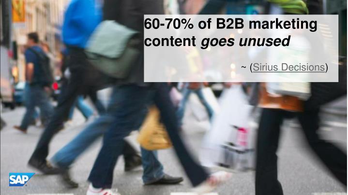 60-70% of B2B marketing