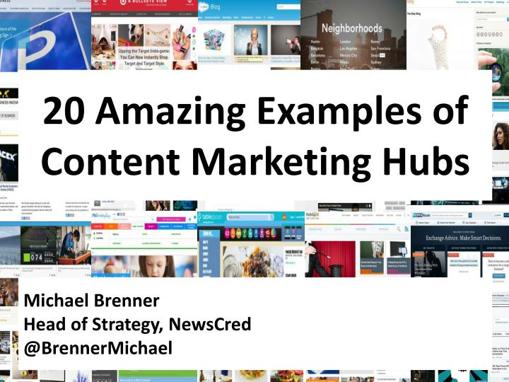 ppt - 20 amazing brand content marketing hubs powerpoint presentation