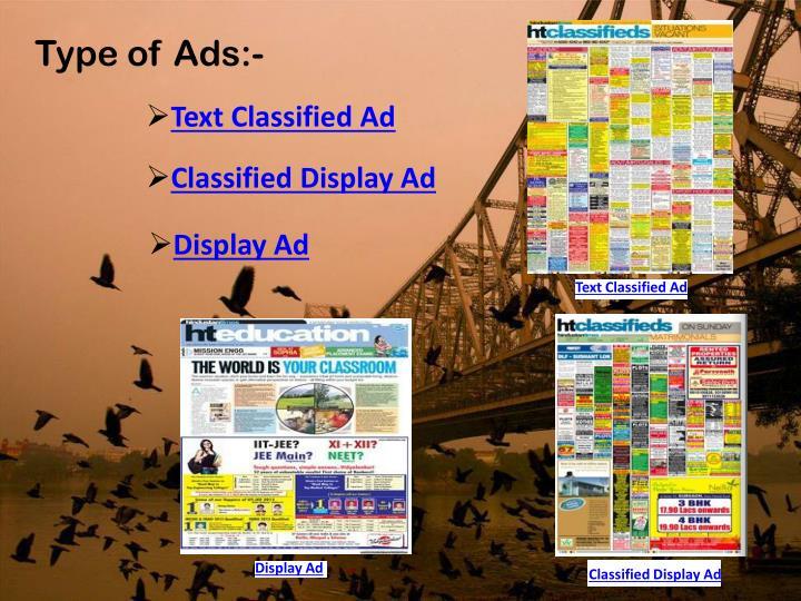 Type of Ads:-