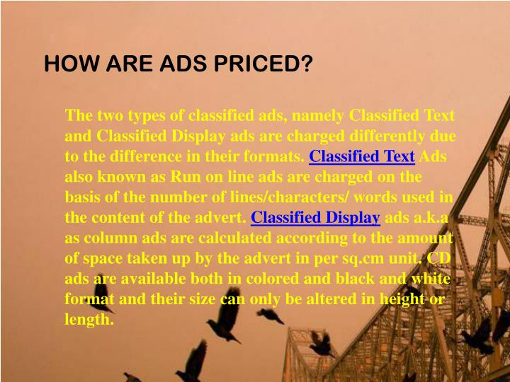 HOW ARE ADS PRICED?