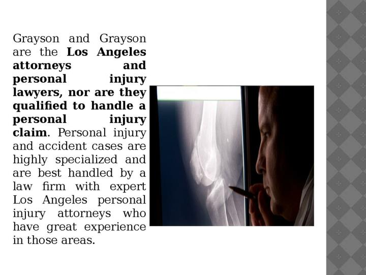 Best personal injury lawyer and attorney los angeles mark grayson 7334678