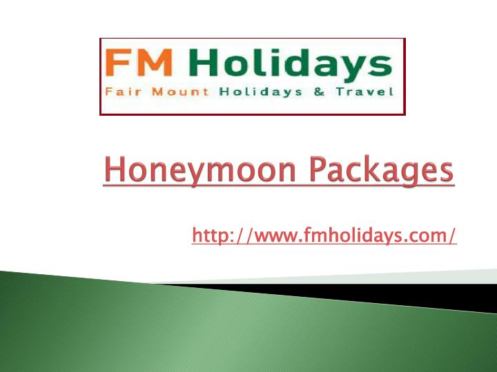 honeymoon packages n.