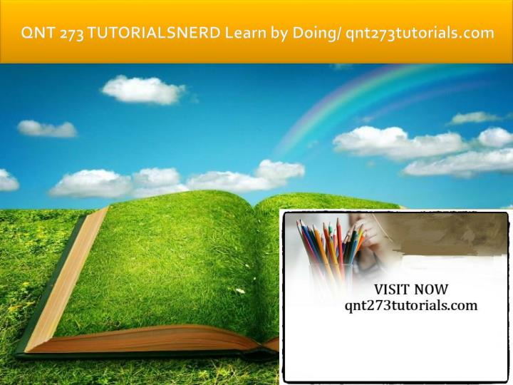 qnt 273 tutorialsnerd learn by doing qnt273tutorials com