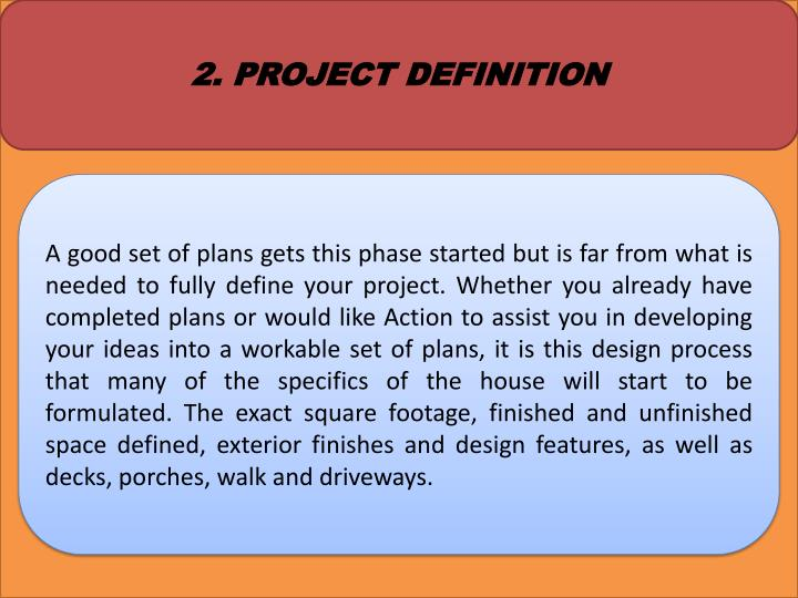 2. PROJECT DEFINITION