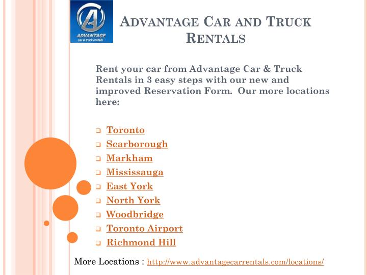 Discount Car And Truck Rentals North York On