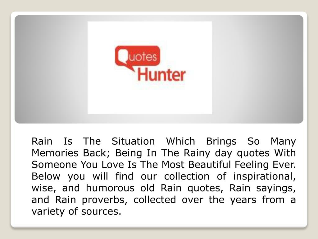 Ppt Rainy Day Quotes Powerpoint Presentation Id7335421