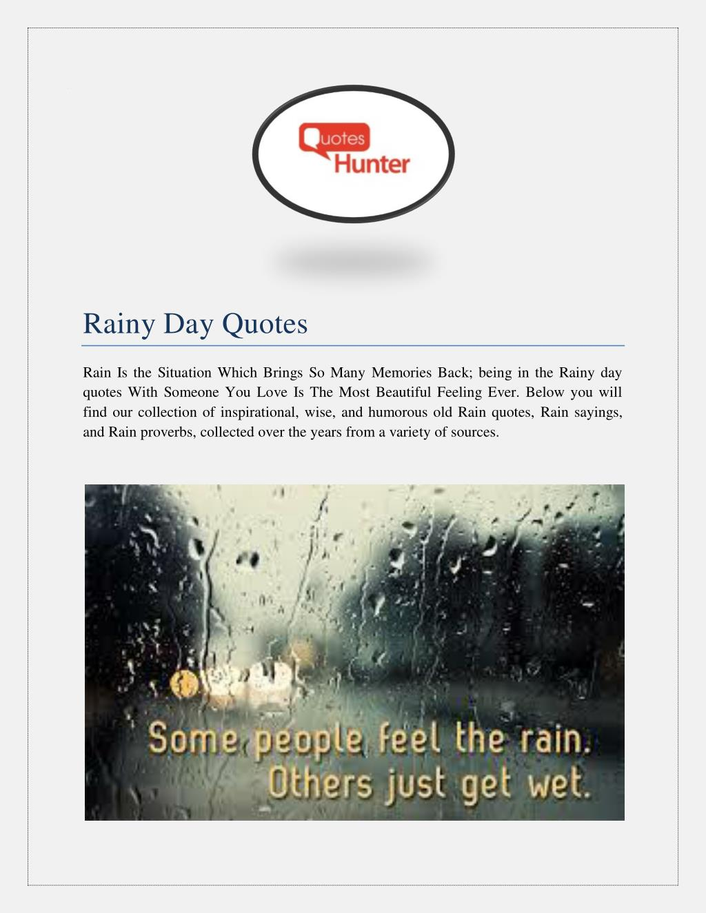 Ppt Rainy Day Quotes Powerpoint Presentation Id7335484