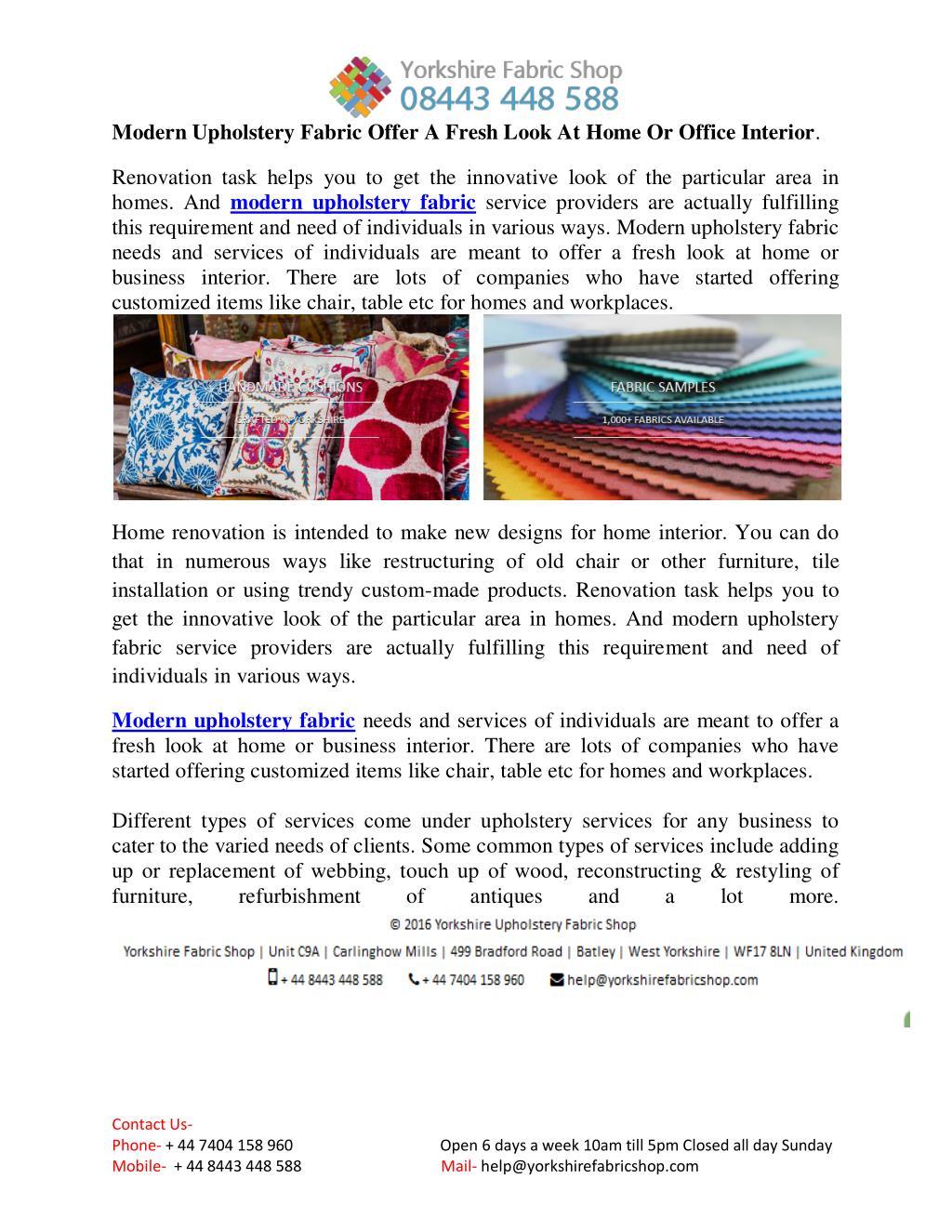 Ppt Modern Upholstery Fabric