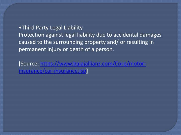 Third Party Legal Liability