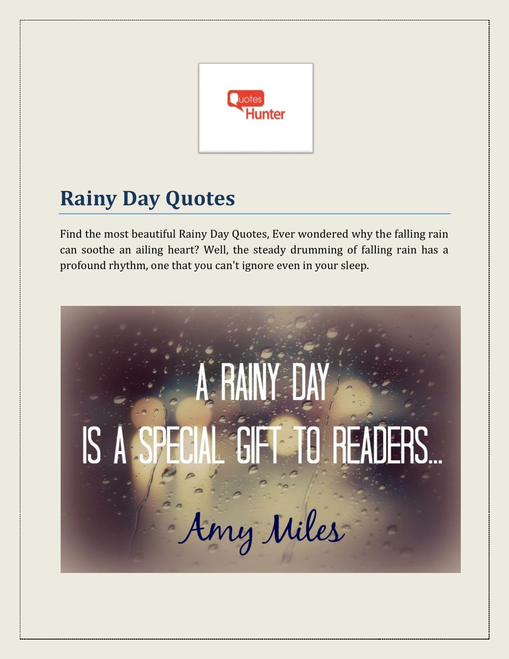 Ppt Rainy Day Quotes Powerpoint Presentation Id7335891