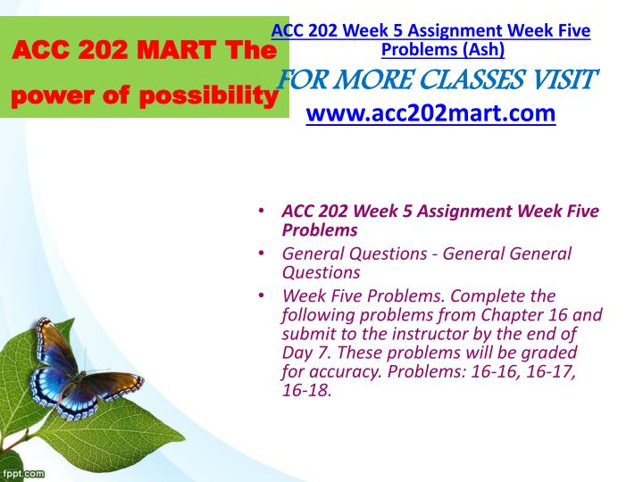 ACC 202 MART The power of possibility