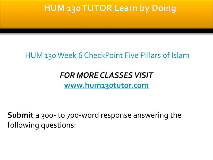 hum 130 week 5 Disclaimer: grab your essay incorporation: a custom writing service that provides online custom-written papers, such as term papers, research papers, thesis papers, essays, dissertations, and other custom writing services inclusive of research materials for assistance purposes only.