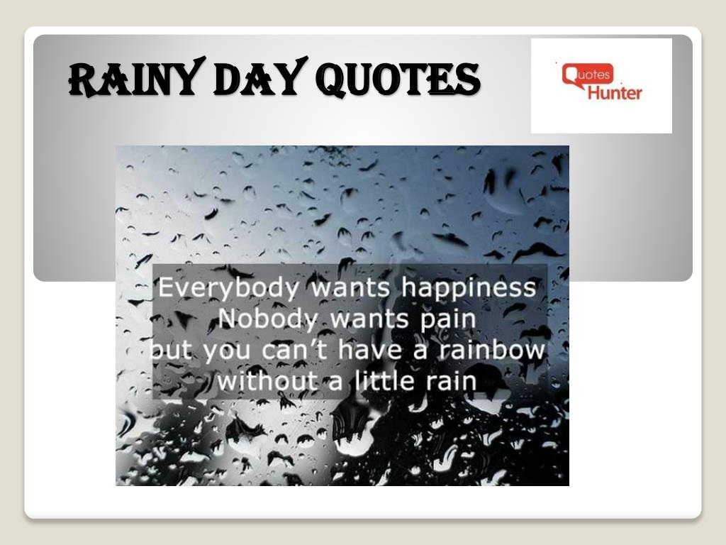 rainy day quotes n.
