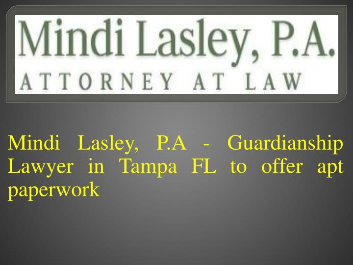 mindi lasley p a guardianship lawyer in tampa fl to offer apt paperwork