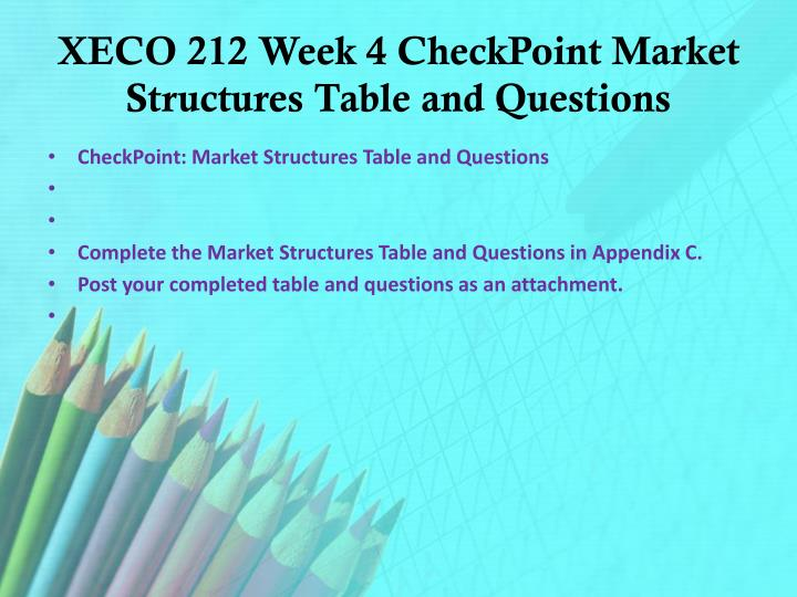 appendix c differentiating between market structures table and questions Differentiating between market structures the structure of a market is defined by the number of firms in the market, the existence or otherwise of barriers to entry of new firms, and the interdependence among firms in determining pricing and output to maximize profits.